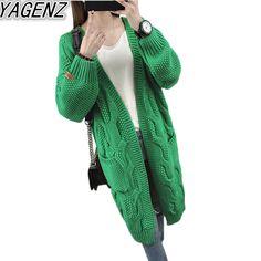 Autumn Winter Knitted Cardigans Coat Women 2017 Fashion Long Sleeve Twist Sweater Coat Beautiful Womens Crochet Sweater Cardigan #Affiliate Sweater Coats, Sweater Cardigan, Fall Winter, Autumn, Cardigans, Sweaters, Fashion 2017, Pull, Crochet