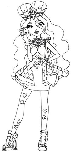 Lizzie Hearts Ever After High Coloring Page