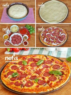 Best Appetizer Recipes, Healthy Soup Recipes, Pizza Recipes, New Recipes, Best Appetizers, Cooking Recipes, Pastry And Bakery, Turkish Recipes, Pizza Dough