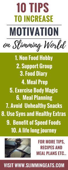 10 Tips to Increase Motivation on Slimming World - SLIMMINGEATS