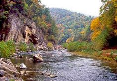 Smoke Hole Canyon on the North Fork River near Cabins, WV....