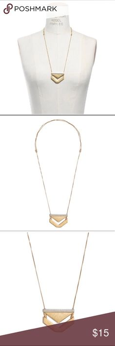 """Madewell Angle-Stack Mixed Metal Chevron Necklace Pre-loved madewell necklace with lots of life left! One of Madewell's best selling classic pieces! Goes with everything; you can't go wrong w/ this necklace! Mixed metals in a geometric chevron shape. Colors: silver and gold Length: 32 1/2"""".Adjustable slide closure. Metal Materials: Brass, zinc.Import. Item A7794. Some tarnishing behind the neck as shown in last photo - it's not noticeable when wearing but reflected in the price. Madewell…"""