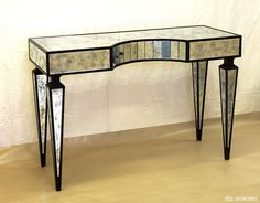 Antique effect mirrors as decoration to console tables, private residence, London