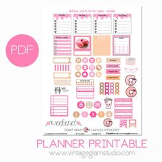 Donut Crazy Planner Stickers | Free Printable Download