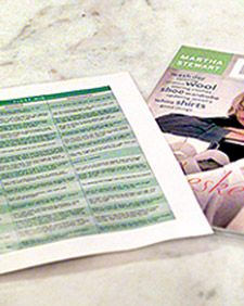 """Martha Stewart's Stain """"first aid"""" chart: It's a comprehensive listing of stains, from grease to ink, along with advice on how to handle them for both washable and nonwashable items. Martha laminated her chart and hung it on the wall in her laundry room, where she refers to it whenever she needs to."""