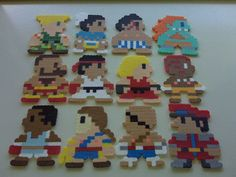 Street Fighter II Perler Bead Magnet Set 12 piece by LighterCases, $35.00