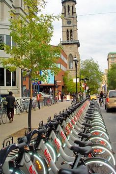 Montreal by Bixi... the only way to travel!
