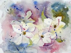 Crazy Clematis - WATERCOLOURS Polly Birchall