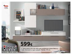#muebles de #comedor blanco y moka por tan sólo 599,00 eur y  ven a vernos a nuestra exposción de 3000 m2 en Fuente Álamo