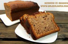 Diferente y delicioso: #Bizcocho de #granada Fácil #receta y vídeo paso a paso. #golosolandia http://www.golosolandia.com/2015/11/bizcocho-de-granada.html