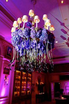 24 Pink And Purple Hanging Wedding Decor Ideas