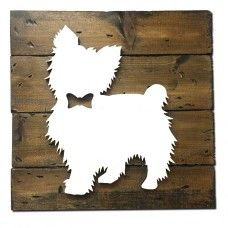 Harbinger Laser   Custom Rustic Dog 12x12 Wall Plaques   Customized with your breed!