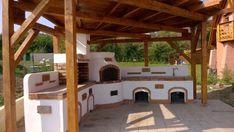 Kerti konyha - Veresegyház Outdoor Kitchen Plans, Outdoor Kitchen Design, Gazebo, Pergola, Outdoor Fireplace Designs, Backyard Projects, Outdoor Gardens, Bbq, Outdoor Structures