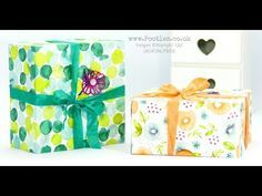 Enormous Fold Flat Lidded Box using Stampin' Up! Naturally Eclectic DSP - YouTube