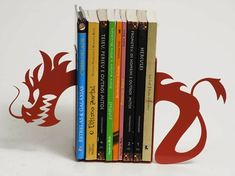 Bookend for shelves... multiple, each different color