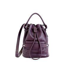 LUMI Katariina Large Bucket Bag in beautiful rich grape colour. Grape Color, Large Bucket, Cow Leather, Bucket Bag, Fashion Backpack, Fashion Accessories, Colour, Bags, Beautiful