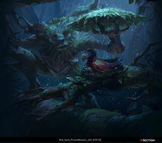 League of legends work_Ivern, Daeyoon Huh on ArtStation at https://www.artstation.com/artwork/LgK5k