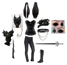 """""""The Wolf Dragon Knight"""" by fallenangel889 ❤ liked on Polyvore featuring Tripp and belle by Sigerson Morrison"""