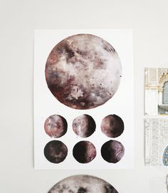 Items similar to Moon Phases, Lunar Phases, Moon Art on Etsy Moon Moon, Moon Art, Moon Phases, Lunar Moon, Watercolor Moon, Watercolor Print, Watercolor Paintings, Watercolours, Zentangle