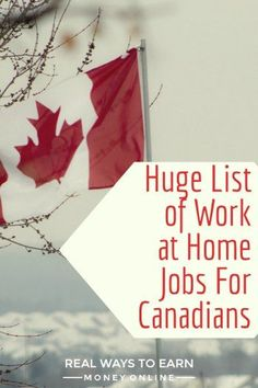 Are you looking for work at home jobs for Canadians? Here is a massive list of every company I'm aware of that hires people in Canada. via @RealWaystoEarn
