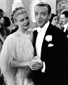"""Fred Astaire and Ginger Rogers in """"Top Hat"""" (1935).  .... ..Uploaded By  www.1stand2ndtimearound.etsy.com"""