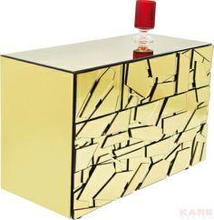Dresser Pieces Gold 3 Drw