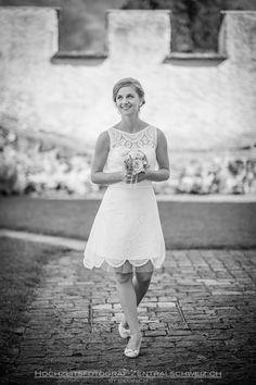 Bridal Portrait made in the Castle A Pro in Altdorf, Switzerland Bridal Portraits, Switzerland, Castle, White Dress, Dresses, Fashion, Nice Asses, Vestidos, Moda