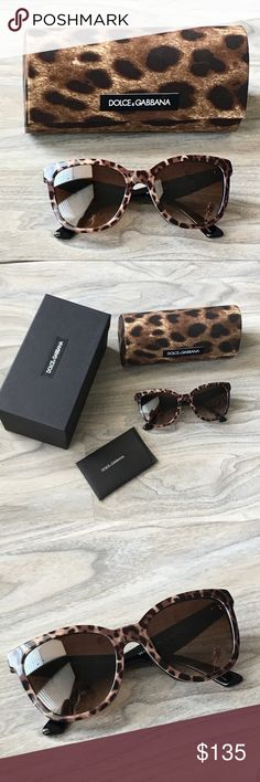 Authentic Dolce & Gabbana brown sunglasses NWT Authentic Dolce & Gabbana brown sunglasses NWT. Brand new. Retro looking. Size 54-19-140mm. Lens Havana color. Dolce & Gabbana Accessories Sunglasses