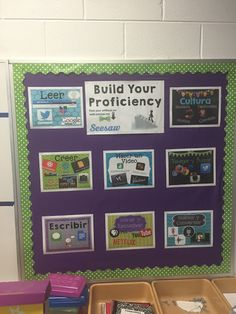 Spanish with Sra. Shaw: Getting That Spanish Classroom Ready Spanish Bulletin Boards, Classroom Bulletin Boards, Classroom Posters, Classroom Activities, Classroom Ideas, Class Activities, Classroom Organization, Why Learn Spanish, Spanish Lessons For Kids