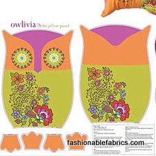 Fabric... Owlivia Panel by Kanvas Studio