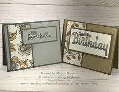 Springtime Foils DSP with Blends Markers, Birthday Wishes and Remarkable You Stamp Sets by Stampin' Up! Get this DSP FREE during Sale-A-Bration! Created by Melissa Kerman, Stampin' Up! demonstrator since 2003!