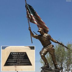Chris Kyle's hometown of Odessa, Texas unveiled this memorial statue of the American Sniper. I Love America, God Bless America, American Freedom, American Pride, Odessa Texas, Chris Kyle, Warrior Quotes, Military Humor, Texas History