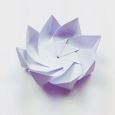 Japanese origami lotus flower paper lantern with by studiorobertwu a flower type thing origami flower modularorigami paperkawaii workinprogress paperfolding diy papercraft paperflower mightylinksfo