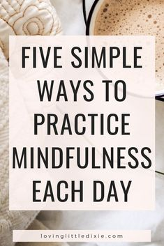 Mindfulness is a powerful tool to improve your mood and focus. Here are five simple ways to practice mindfulness each day. Mindfulness Techniques, Mindfulness Exercises, Mindfulness Activities, Mindfulness Practice, Meditation Techniques, Mindfulness Meditation, Guided Meditation, Mindfulness Quotes, Meditation Practices
