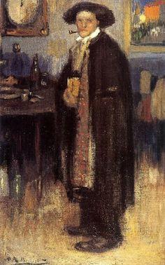 Pablo Picasso - Homme en Manteau Espagnol, 1900