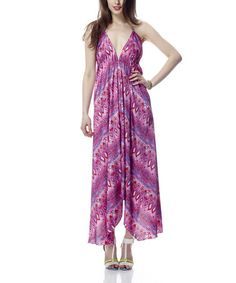 Take a look at this Raspberry Sorbet Halter Maxi Dress by Classique on #zulily today!