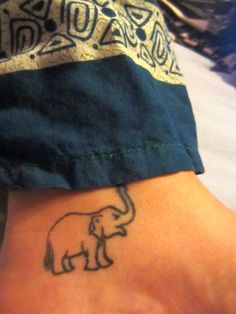 simple elephant tattoo trunk up - Google Search