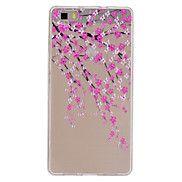 cassa+del+telefono+del+fiore+della+pesca+modello+sottile+sollievo+materiale+TPU+per+p8+Huawei+lite+–+EUR+€+2.93