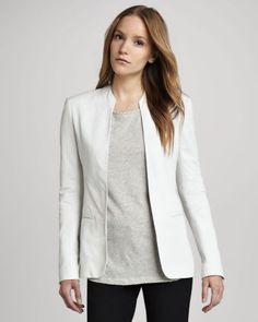 L869-New-women-genuine-white-lambskin-leather-jacket-coat-size-xs-s-m-l-xl