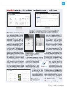 """Le magazine professionnel « Matériel et Paysage » a consacré une page entière à Organilog, dans la rubrique """"nouveauté"""" de son édition du mois de décembre 2014. #MaterielEtPaysage #cloud"""