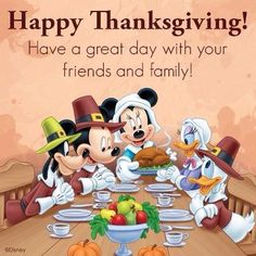 Happy Thanksgiving from our family to yours! We have so much to be thankful for.like, Disney! And Disney! And DISNEY!
