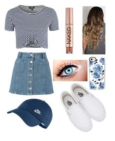 """""""Untitled #455"""" by ll1021 ❤ liked on Polyvore featuring Miss Selfridge, Topshop, Vans, NIKE, Urban Decay and Casetify"""