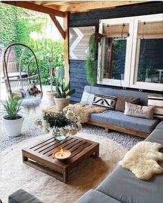 Bohemian Styled Backyard Decor Ideas Bohemian Garden and Patio Fire Pit Backyard, Backyard Patio, Backyard Seating, Yard Landscaping, Diy Patio, Patio Design, Home Design, Design Ideas, Ideas Terraza