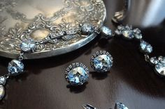 Lillian Blue Buttons by jillzaleski on Etsy, $80.00