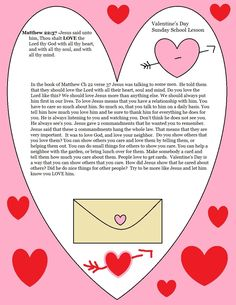 Church House Collection Blog: Valentine's Day Sunday School Lesson