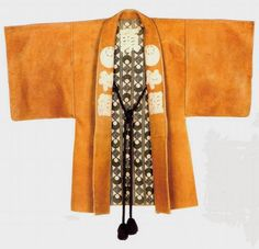 LEATHER BANTEN, Japan, late Edo period, cm 105x131. There is evidence that reversible leather 'haori' coats (banten) have been used by samurai and other distinguished people during the whole Edo period ... | rugrabbit.com