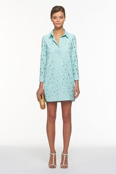 DVF Leeandra Flower Lace Dress