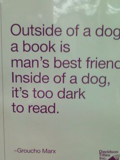 Poster at the library.  :-)