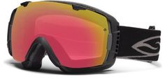 Smith Optics I/O Goggle (Black Frame, Red Sol X Mirror Lens) by Smith Optics. $148.69. The Smith I/O Goggle is one of the most popular ski goggles out there for so many reasons First of all its rimless so you get a bigger range of vision and you dont get that clunky goggle feel Second changing the lenses on the I/O is really easy You just slide open the tabs slip out the lens and stick a new one in No more tug of war with your goggles or bad seals that let in air and sno...