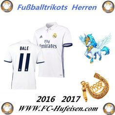 Neue Fussball Trikots Real Madrid Weiß (BALE 11) Heim Saison 2016 2017 Billig